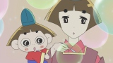 NHK・Eテレで放送中のアニメ『おじゃる丸』5歳のおじゃる丸(左)とおじゃる17(右)が遭遇するエピソードは12月15日放送予定(C)犬丸りん・NHK・NEP