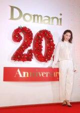 イベント『ファッション誌Domani創刊20周年×東急プラザ銀座 大人のHolly Night』前の囲み取材に出席した蛯原友里