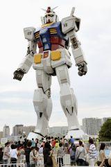 2009年7月「GREEN TOKYO ガンダムプロジェクト」の一環として、潮風公園に登場した「RG1/1 RX-78-2ガンダムVer.G30th」(C)創通・サンライズ