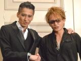 ASKA容疑者の2度目の逮捕にコメントをした(左から)大沢樹生、諸星和己 (C)ORICON NewS inc.