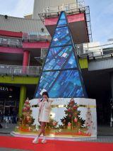 藤田ニコル、東京・お台場ヴィーナスフォートのパレットタウンに設置された『ニナ XMASツリー』3Dホログラム体験イベントに登場 (C)ORICON NewS inc.