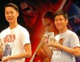 (左から)『スター・ウォーズ/フォースの覚醒』MovieNEX発売記念イベントに出席したはんにゃ・金田哲、川島章良 (C)ORICON NewS inc.