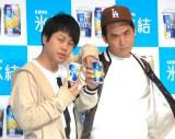 (左から)NON STYLE・井上裕介、トレンディエンジェル・斎藤司 (C)ORICON NewS inc.