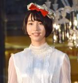 岩手県産プレミアムりんご『冬恋』のお披露目イベントに出席したのん (C)ORICON NewS inc.