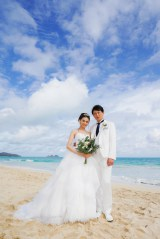 ハワイで挙式した押切もえ&涌井秀章夫妻
