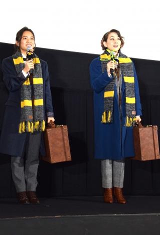 映画『ファンタスティック・ビーストと魔法使いの旅』大ヒット記念イベントに登場した岡田結実(左)とSHELLY (C)ORICON NewS inc.
