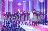 NHK BSプレミアム『あなたに贈る!クリスマスソング・セレクション』に出演する欅坂46 (C)NHK