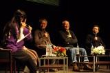「『真田丸』トーク!トーク!トーク!〜毎日ライブin信州上田〜」に出演した(左から)西村雅彦、中原丈雄、栗原英雄