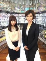 『けやきヒル'sNEWS』で番組キャスターを務める(左から)柴田阿弥、徳永有美 (C)AbemaTV