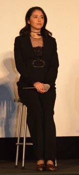 新春ドラマスペシャル『君に捧げるエンブレム』完成披露試写会後、舞台あいさつに登壇した長澤まさみ (C)ORICON NewS inc.