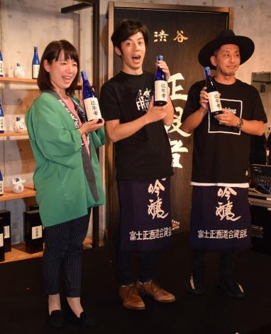 日本酒「晩喜酒 征服者」発売及び期間限定「晩喜酒BAR」オープン記念パーティーの模様 (C)ORICON NewS inc.