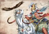 トルキエ将国の将軍マフムートと相棒の犬鷲・イスカンダル(C)カトウコトノ・講談社/将国のアルタイル製作委員会