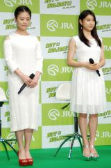 『2017年 JRA新CM発表会』に出席した(左から)高畑充希、土屋太鳳 (C)ORICON NewS inc.
