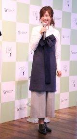 「しんぶんカフェ+me」内覧会に登場した安田美沙子 (C)oricon ME inc.