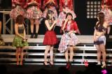 ハロー!プロジェクトの新リーダーに就任し、涙で決意を述べたアンジュルムの和田彩花(右から2番目)