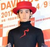 大回顧展「DAVID BOWIE is」内覧会に来場した栗原類 (C)ORICON NewS inc.