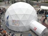 東京ソラマチに設置されている巨大ドーム「17AAA360°DOME LIVE」
