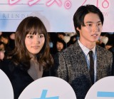 映画『一週間フレンズ。』完成披露試写会に出席した(左から)川口春奈、山崎賢人 (C)ORICON NewS inc.