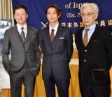 映画『沈黙-サイレンス-』記者会見に出席した(左から)浅野忠信、窪塚洋介、イッセー尾形 (C)ORICON NewS inc.
