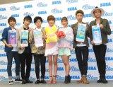 AAA(左から)西島隆弘、日高光啓、與真司郎、宇野実彩子、伊藤千晃、與真司郎、浦田直也 (C)ORICON NewS inc.
