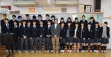 広尾中学校の生徒にラップを指導 (C)ORICON NewS inc.