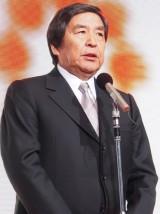 テレビ朝日55周年応援隊ユニット『ゴーちゃん。GIRLS』をお披露目した早河洋社長 (C)ORICON DD inc.