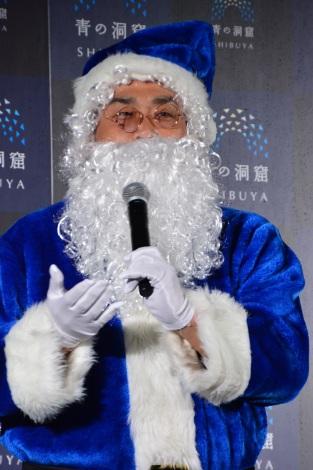 22日より代々木公園内のケヤキ並木で展開される『青の洞窟SHIBUYA』点灯式に登場した山本昌氏(C)oricon ME inc.