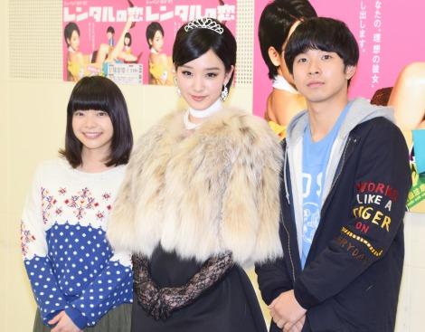 ドラマ『レンタルの恋』の囲み取材に出席した(左から)岸井ゆきの、剛力彩芽、太賀 (C)ORICON NewS inc.