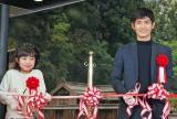 「大河ドラマ館」オープニングセレモニーでテープカットをした(左から)新井美羽、三浦春馬 (C)ORICON NewS inc.