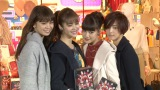 E-girls(左から、佐藤晴美、楓、藤井夏恋、藤井萩花) (C)ORICON NewS inc.