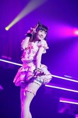 「わるきー」ならぬ「わる姫」を披露した中井りか=『NGT48 1周年記念コンサート in TDC〜Maxときめかせちゃっていいですか?〜』より(C)AKS