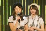 チームBII公演初日に卒業を発表した藤江れいな(左)(C)NMB48
