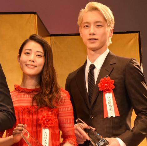 『第41回エランドール賞』授賞式に出席した(左から)高畑充希、坂口健太郎 (C)ORICON NewS inc.