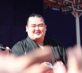 赤坂日枝神社で行われた『節分祭』で豆まきを行なった琴奨菊関(C)ORICON NewS inc.
