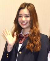 主演映画『傷だらけの悪魔』初日舞台あいさつに登壇した足立梨花 (C)ORICON NewS inc.