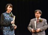 『2016年 第90回キネマ旬報ベスト・テン』表彰式に出席した(左から)のん、片渕須直監督 (C)ORICON NewS inc.