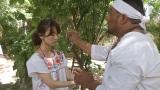 雨乞いの儀式に参加した大島優子(C)テレビ静岡