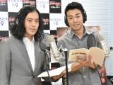 アフレコ取材に出席した、ピース(左から)又吉直樹、綾部祐二 (C)ORICON NewS inc.