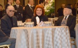 肝付兼太さんを偲ぶ会に参列した(左から)藤子不二雄A氏、野沢雅子、松本零士氏 (C)ORICON NewS inc.