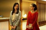 関西テレビ・フジテレビ系ドラマ『嘘の戦争』第5話(2月7日放送)より。復讐のターゲット・九島の弱みを握っている愛人の五十川芙美(真飛聖)にも接近(C)関西テレビ