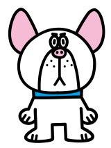 ショートアニメ『ぶっぷな毎日』、関西テレビで放送決定。フレンチブルドッグのベビちゃん。ダイアナ、デビット、マーガレットと家族。ベビちゃん一家の大黒柱。まとも(C)「ぶっぷな毎日」製作委員会