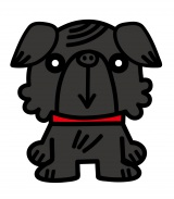 ショートアニメ『ぶっぷな毎日』、関西テレビで放送決定。ぶっぷの犬たちの中で唯一犬種が違うチャーリー 。たぶんパグ。しゃべるのが得意で、よく毒を吐く(C)「ぶっぷな毎日」製作委員会