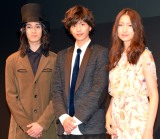 舞台『春のめざめ』の製作発表会見に出席した(左から)栗原類、志尊淳、大野いと (C)ORICON NewS inc.