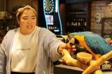 関西テレビ・フジテレビ系ドラマ『嘘の戦争』オウムの声を担当しているゆりやんレトリィバァ(C)関西テレビ
