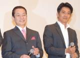 (左から)水谷豊、反町隆史=『相棒-劇場版IV-首都クライシス 人質は50万人!特命係最後の決断』初日舞台あいさつ (C)ORICON NewS inc.