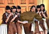 ばってん少女隊(左から)星野蒼良、春乃きいな、上田理子、瀬田さくら、西垣有彩、希山愛 (C)ORICON NewS inc.