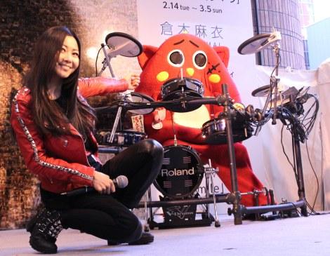 ニューアルバム『Smile』発売記念イベント『「Let'sスマイルキャンペーン」モザイクアート発表会』の模様 (C)ORICON NewS inc.