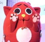 ニューアルバム『Smile』発売記念イベント『「Let'sスマイルキャンペーン」モザイクアート発表会』に登場したにゃんごすたー (C)ORICON NewS inc.