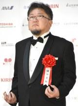 ゴジラポーズをする樋口真嗣=『第71回毎日映画コンクール』 (C)ORICON NewS inc.