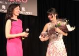 舞台『minako-太陽になった歌姫-』の製作記者発表会に出席した(左から)早見優、田村芽実 (C)ORICON NewS inc.